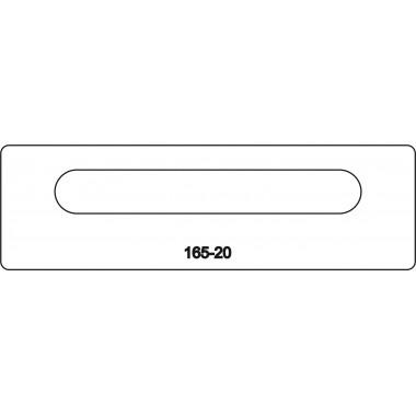 Лицевая часть замка 165-20R