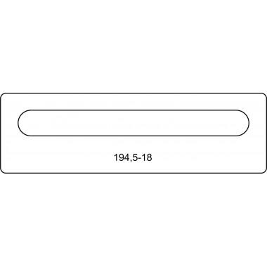 Лицевая часть замка 194,5-18 R
