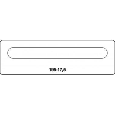 Лицевая часть замка 195-17,5 R