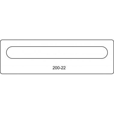 Лицевая часть замка 200-22R