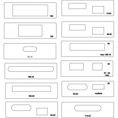 Основной набор вставок (тела под 30втулку)